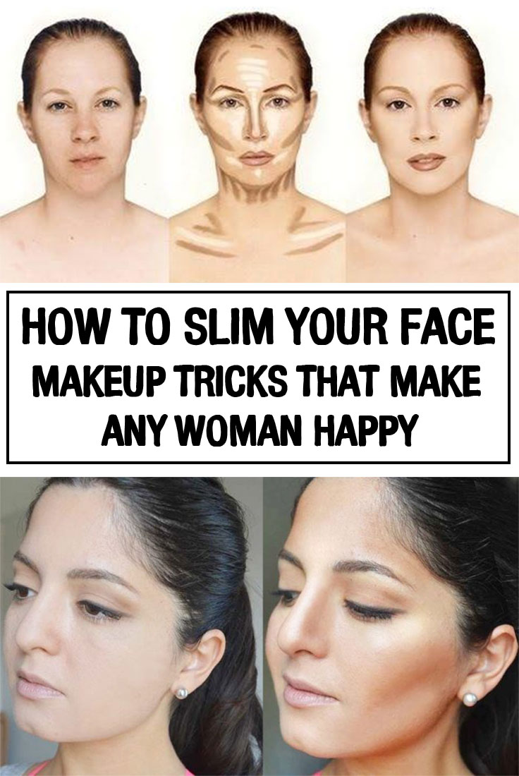 How To Slim Your Face Makeup Tricks That Make Any Woman Happy